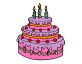 Disegno Dolce di compleanno pitturato su TheBest522