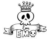 Disegno Love Emo pitturato su ilenia