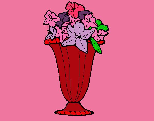 Disegno vaso di fiori 2a colorato da nikolette il 30 di for Vaso di fiori disegno