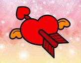 Disegno Cuore di San Valentino  pitturato su samell