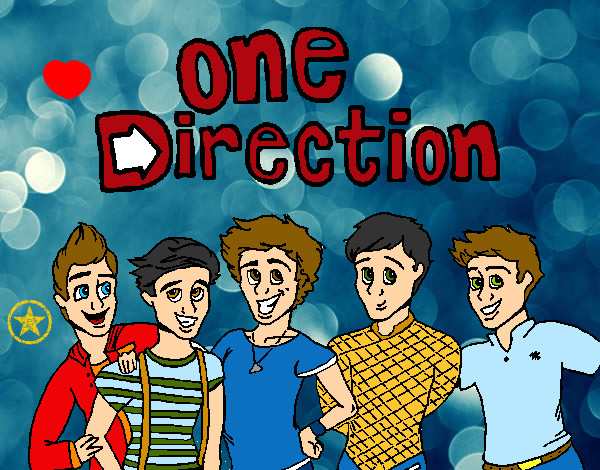 Disegno One Direction 3 pitturato su noemy