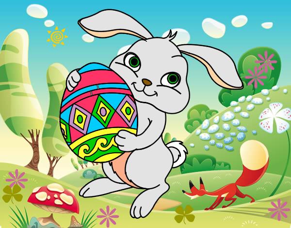 Disegno coniglietto colorato da tenesee il 09 di marzo del - Lettere stampabili del coniglietto di pasqua ...