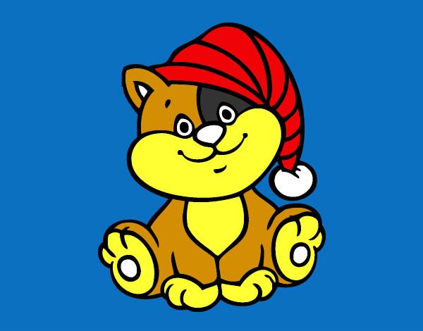 Disegno Gatto Con Cappello Colorato Da Claudia05 Il 11 Di Marzo Del 2013