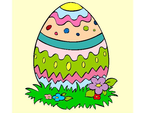 Estremamente Disegno Uovo di Pasqua colorato da Analessia il 20 di Marzo del 2013 MT62