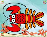 Disegno Crustacea pitturato su glorialaur