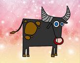 Disegno Segno di Toro pitturato su SoniaC
