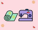 Disegno Macchina per cucire pitturato su midi