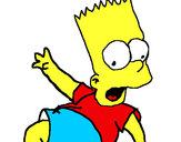 Disegno Bart 2 pitturato su Federico2