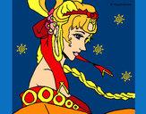 Disegno Principessa cinese pitturato su Lilith
