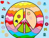 Disegno Simbolo della pace pitturato su angy04