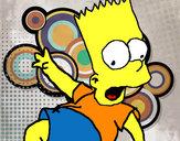 Disegno Bart 2 pitturato su Godzilla