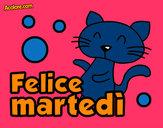Disegno Felice martedì pitturato su lavinia2