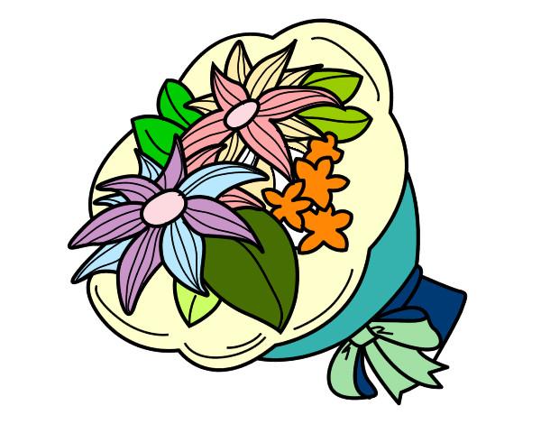 Disegno mazzo di chrysanthemum colorato da rondine74 il 21 for Disegni del mazzo del cortile anteriore