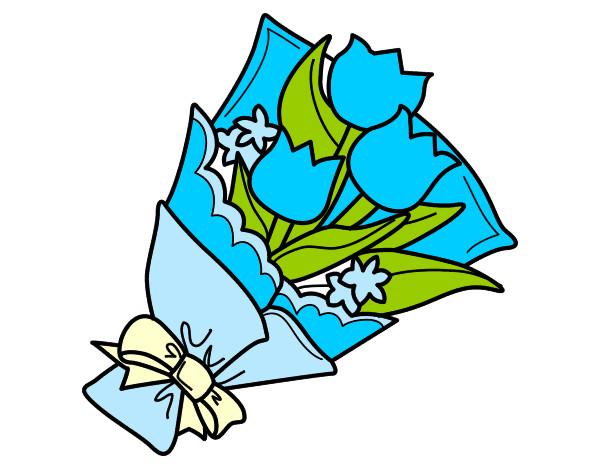 Disegno mazzo di tulipani colorato da lavinia6 il 08 di for Disegni del mazzo del cortile