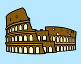Disegno Colosseo romano pitturato su Greta945