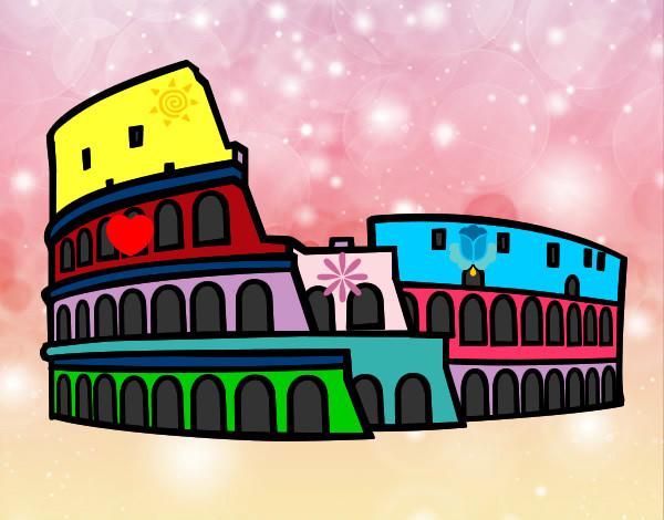 Disegno Colosseo Romano Colorato Da Fabri Il 24 Di