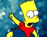 Disegno Bart 2 pitturato su ponibil