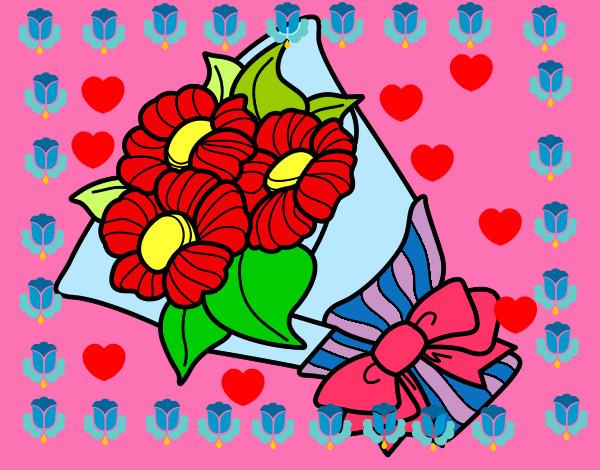 Disegno il mazzo di fiori colorato da lorena06 il 23 di for Disegni del mazzo del cortile
