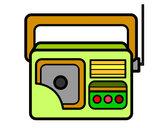 Disegno Antique radio pitturato su kkpier1