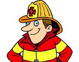 Disegno Pompiere  2 pitturato su kkpier1