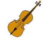 Disegno Violino pitturato su Seira145