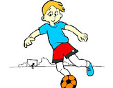 Disegno Giocare a calcio pitturato su alessiacom