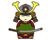 Disegno Samurai cinese pitturato su gliamicidi