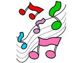 Disegno Note nella scala musicale  pitturato su alessiacom