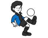Disegno Calcio  pitturato su RODERUA