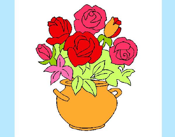 Disegno vaso di fiori colorato da ale04 il 07 di luglio for Vaso di fiori disegno