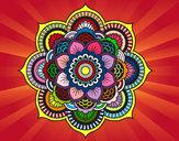 Disegno Mandala fiore orientale pitturato su Teopolpy