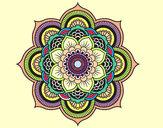 Disegno Mandala fiore orientale pitturato su ange11