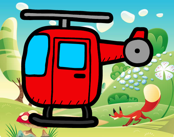 Elicottero Leggero : Disegno elicottero leggero colorato da tami il di