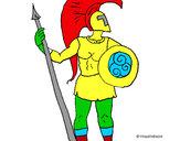 Disegno Guerriero troiano  pitturato su EmaLele98