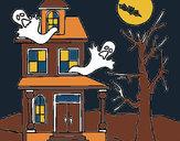 Disegno Casa del terrore pitturato su violeetta1