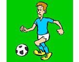 Disegno Giocatore di calcio  pitturato su alessiacom