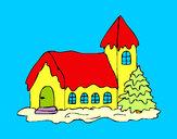 Disegno Casa pitturato su ALESSAN
