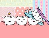 Disegno Denti pitturato su Camilla-