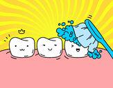 Disegno Denti pitturato su Antonio007