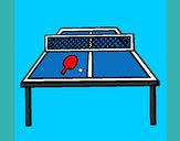 Disegno Ping pong pitturato su Antonio007