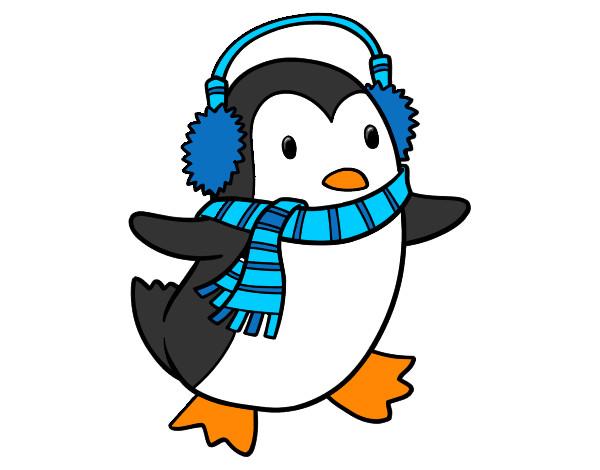 Disegno pinguino con la sciarpa colorato da antonio007 il for Disegno pinguino colorato
