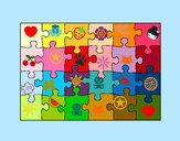 Disegno Puzzle pitturato su Antonio007