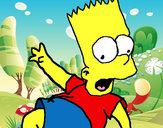 Disegno Bart 2 pitturato su Camilla-