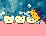Disegno Denti pitturato su Francy803
