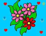 Disegno Fiorellini  pitturato su jacopoegem