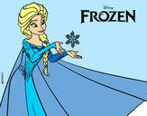 Disegno Frozen Elsa pitturato su Bianca03