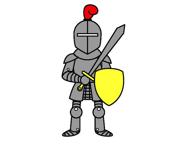 Disegno cavaliere con spada e scudo colorato da faffa il - Cavaliere modello a colori ...