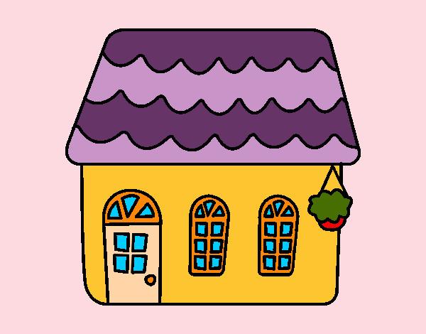 Disegno casa di una favola colorato da violaviola il 22 di for Disegni di casa compatti