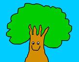 Disegno Anime albero pitturato su GABRIEL17