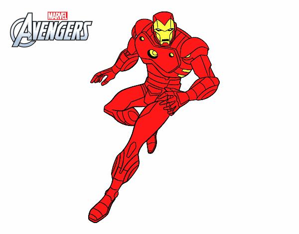 Iron Man Da Stampare: Iron Man Colorato Da Carl Il 18 Di